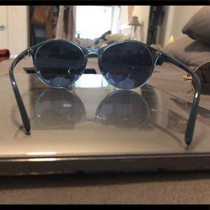 Light blue sunglasses, accessories